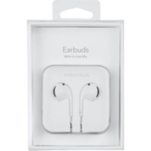 Insignia Earbud Headphones White For Apple iPhone iPod Nano 6S65S5 With Vol Cont