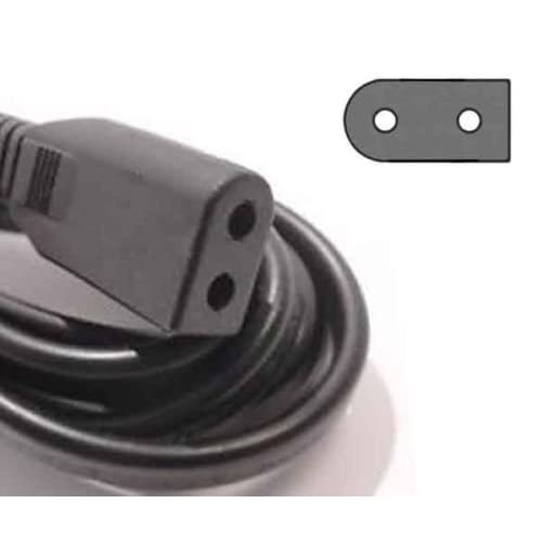 Image 0 of AC Power Cord Solid 2 Prong For Sony And More