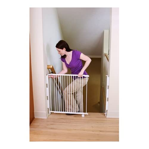 Regalo Expandable Top Of Stairs Baby Gate Includes Mounting Kit  White