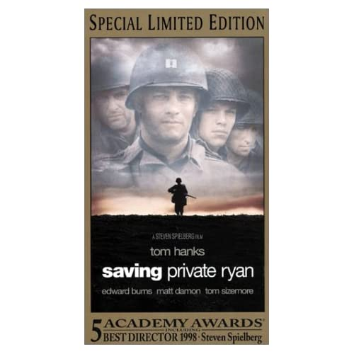 Image 0 of Saving Private Ryan On VHS With Tom Hanks