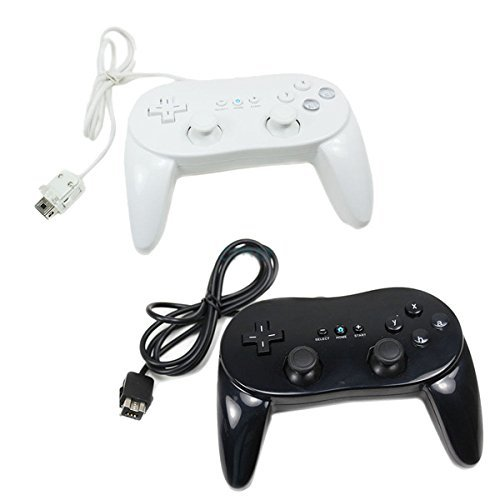 Image 0 of Generic Nintendo Wii U Wireless Controller 2 Pack White And Black