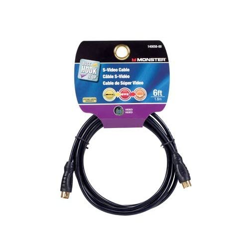 Monster 140058 Just Hook It Up S-Video Cable 6-FEET TV