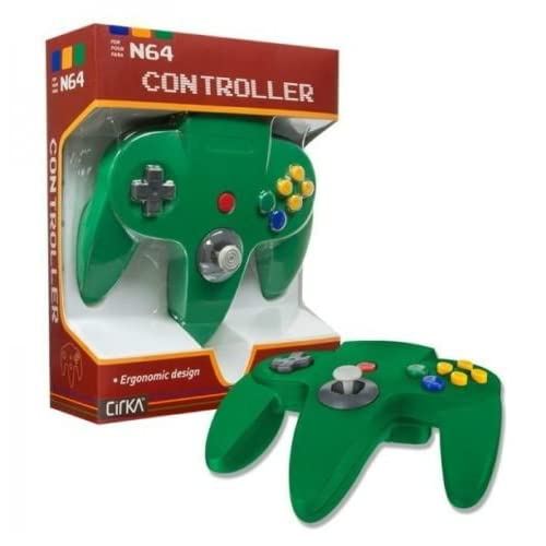 Controller For Nintendo 64 Green N64 Joypad