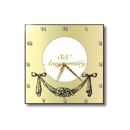 3DROSE Dpp 195777 3 Print Of Gold With Ribbon Swag For Year 35 Wall