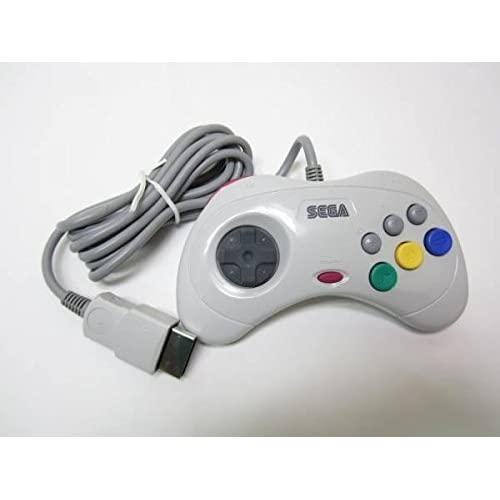 Official Controller Pad White HSS-0101-S Ss From Japan For Sega Saturn Vintage G