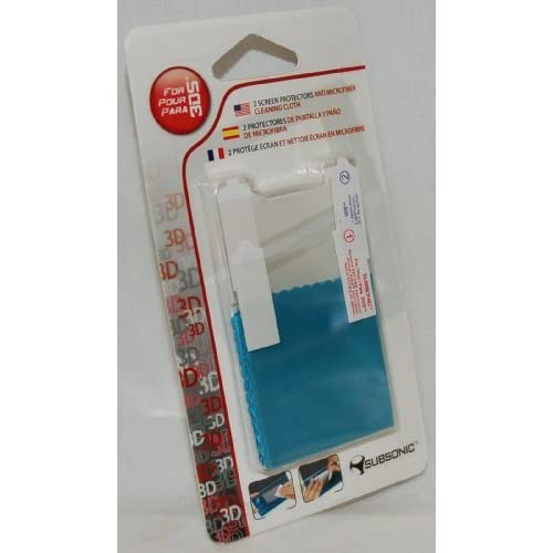 2 X New Subsonic Nintendo 3DS Screen Protectors Cloth Pair US For DS