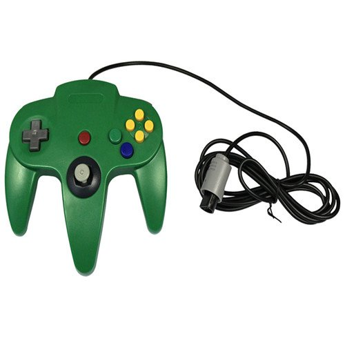 Image 0 of Generic Wired Game Controller For N64 Color Green