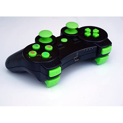 Wireless Remote PS3 Controller Gamepad For Use With Black/green For PlayStation
