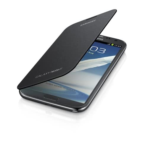 Samsung Galaxy Note 2 Flip Cover Case Titanium Gray Grey Fitted