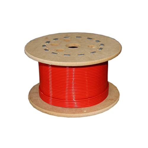 Image 0 of Loos Stainless Steel 302/304 Wire Rope Nylon Coated 7X7 Strand Core Red 1/16
