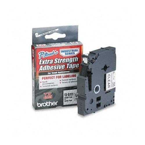 Image 0 of TZES141 Black On Clear Extra Strength For Tz Models Ptouch