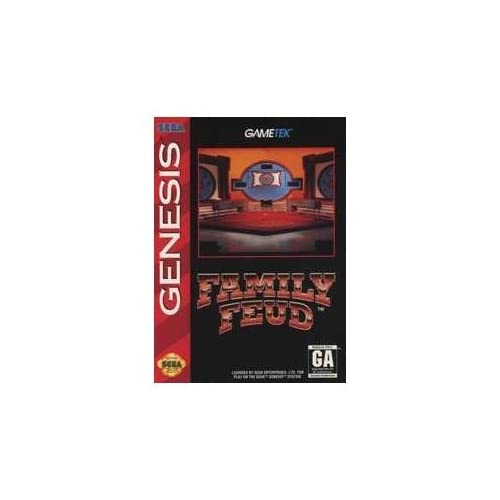 Family Feud For Sega Genesis Vintage With Manual and Case