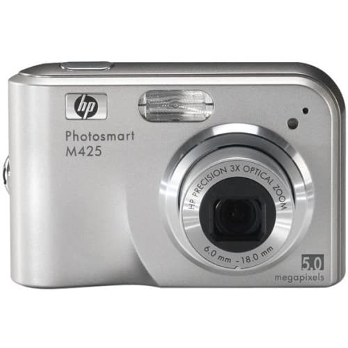 HP Photosmart M425 5MP Digital Camera With 3X Optical Zoom Silver Compact