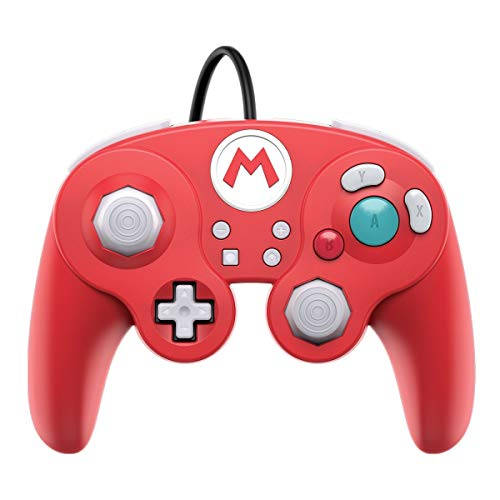 Super Mario Bros Mario GameCube Style Wired Fight Pad Pro Controller By PDP 500-