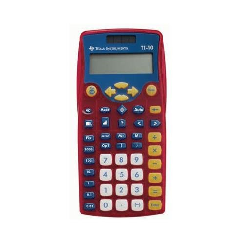 Texas Instruments TI-10 Scientific Calculator 2 Lines 11 Characters LCD Pack Of