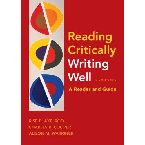 Encyclopedias Subject Guides: Reading Critically Writing Well 9E: A Reader And Guide By