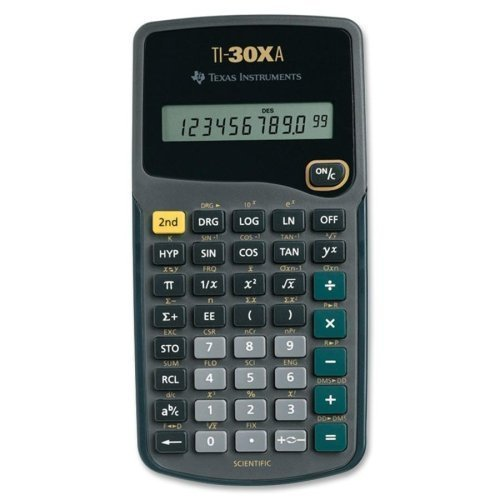 Image 0 of TEXTI30XA Texas Instruments TI-30XA Scientific Calculator Pocket