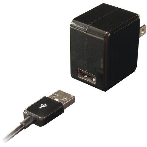 Image 0 of Iessentials Single USB Wall Charger With 30-PIN Charge/sync Cable Black