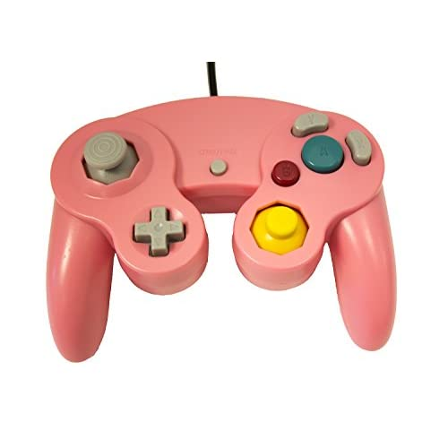 Image 2 of Replacement Controller Pink By Mars Devices Gamepad For GameCube Wii