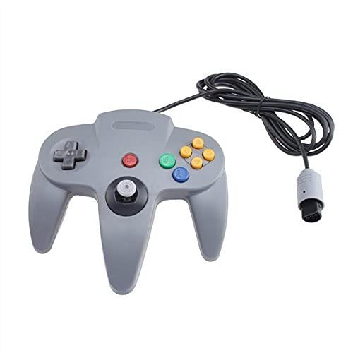 Image 0 of Wired Controller Joystick For Nintendo 64 Game System Gray Gamepad