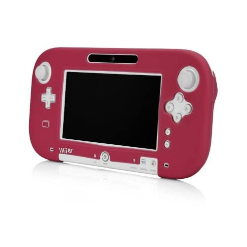 Image 0 of Gamepad Silicone Jacket Red For Wii U N8570R Protective