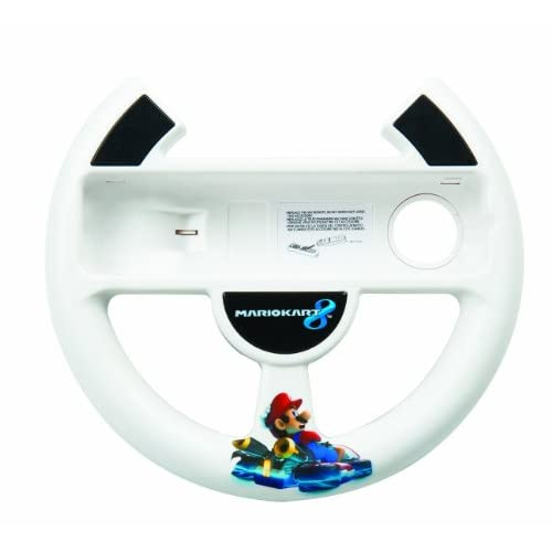 Power A Mario Kart 8 Racing Wheel For Wii U White