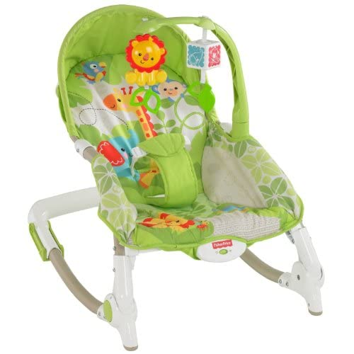 Fisher-Price Newborn-To-Toddler Portable Rocker Green