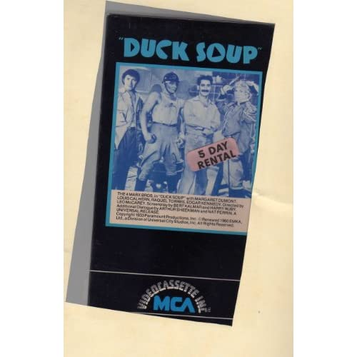 Image 0 of Duck Soup On VHS