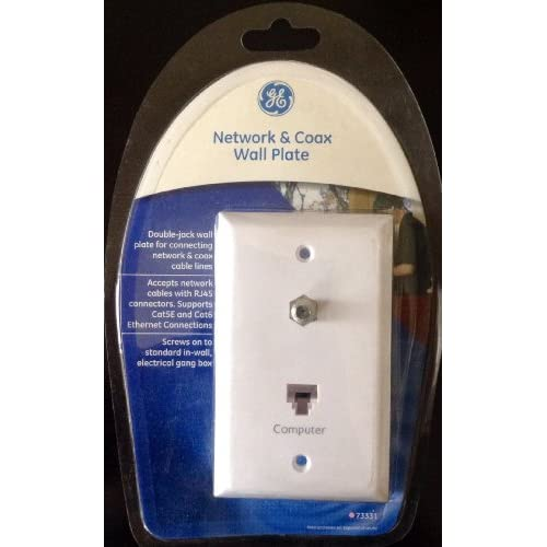 73331 Network & Coax Wall Plate White