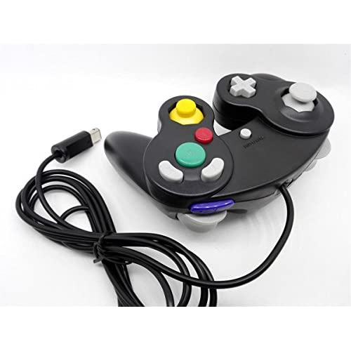 Image 2 of Generic Nintendo GameCube Compatible Controller Pack 2 Black