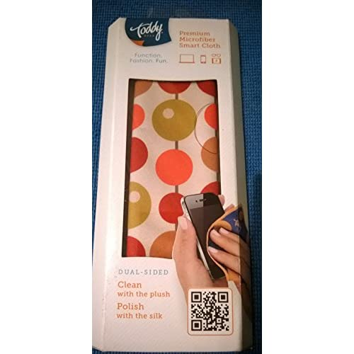 Image 0 of Toddy Dual-Sided Plush Silk Cleaning Cloth 5 X 7 Tan Circles Case Cover