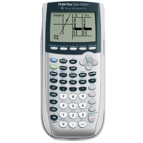 Image 0 of Texas Instruments TI-84 Plus Silver Viewscreen Calculator Handheld Graphing Ti 8