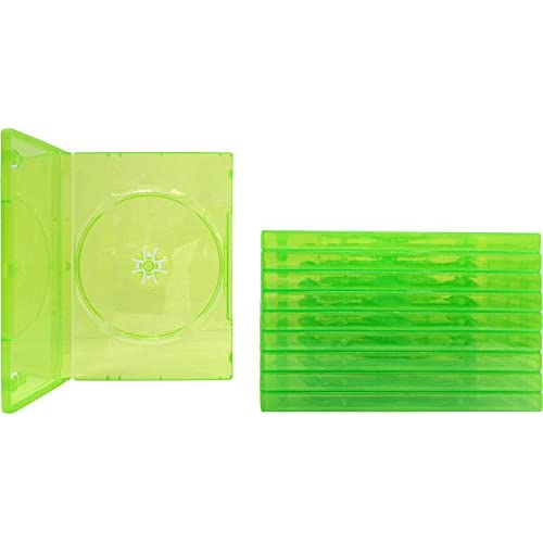10 Empty Standard Xbox 360 Translucent Green Replacement Games Boxes / Cases