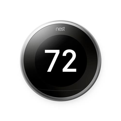 Image 0 of Nest Learning Thermostat 3rd Generation Wifi Bluetooth Smart Thermostat Silver W