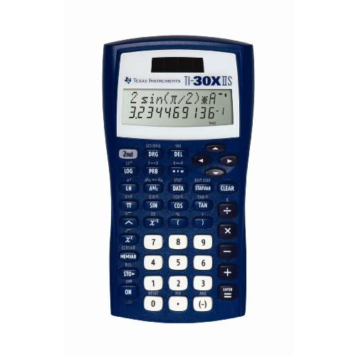 Texas Instruments TI-30X Iis 2-line Scientific Calculator Dark Blue TI