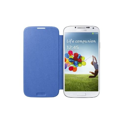 Image 3 of Samsung Galaxy S4 Flip Cover Folio Case Light Blue Fitted