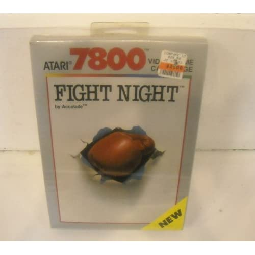 7800 Fight Night Game By Accolade For Atari Vintage Boxing