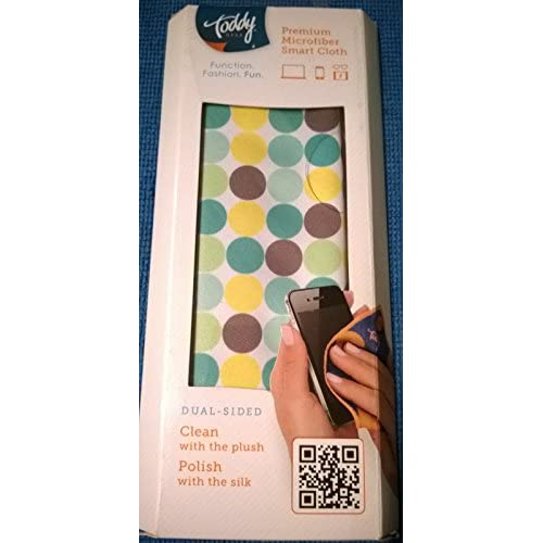Image 0 of Toddy Dual-Sided Plush Silk Cleaning Cloth 5 X 7 Multi-Colored Circles