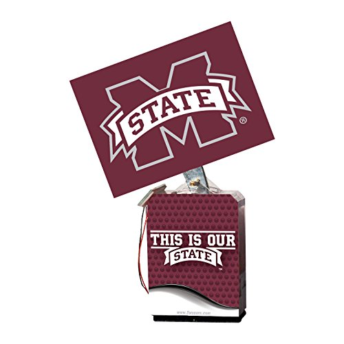 NCAA Mississippi State Bulldogs Adult Solar Buddy 6.5 X 4 Red