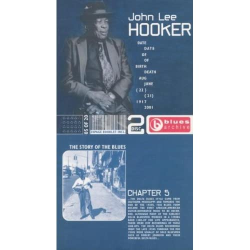 Image 0 of Blues Archive: The Story Of The Blues Chapter 5 By John Lee Hooker On Audio CD A
