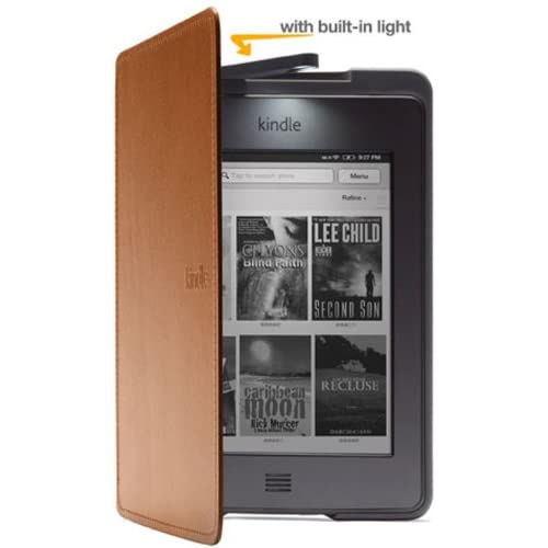 Amazon Kindle Touch Lighted Leather Cover Saddle Tan Does