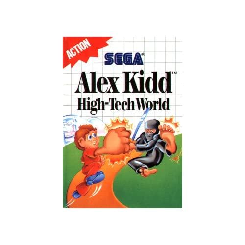 Alex Kidd High Tech World For Sega Master Vintage