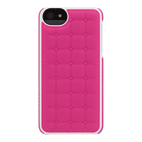 Image 0 of Adopted Leather Cell Phone Case For Apple iPhone 5 5S SE Fuscia/White