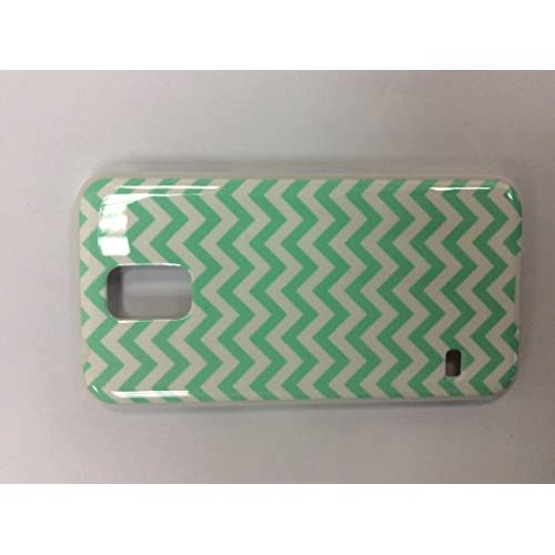 iConcepts Hardshell Case For Samsung Galaxy S5 Zigzag Waves Green/White