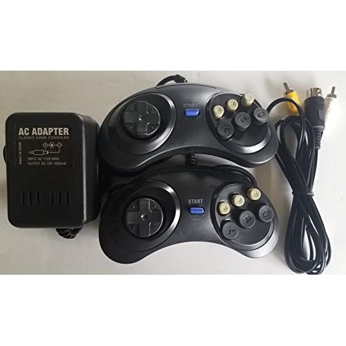 AC Adapter Power Cable Cord With AV Cable 2 Controller Pads For Sega Genesis Gen