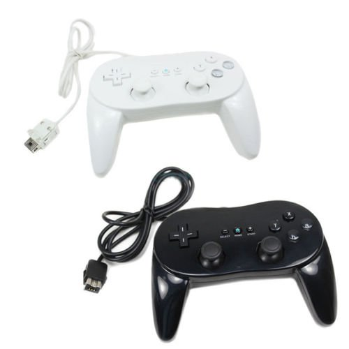 2 X New Classic Pro Remote Controller For Black&white US Ship For Wii