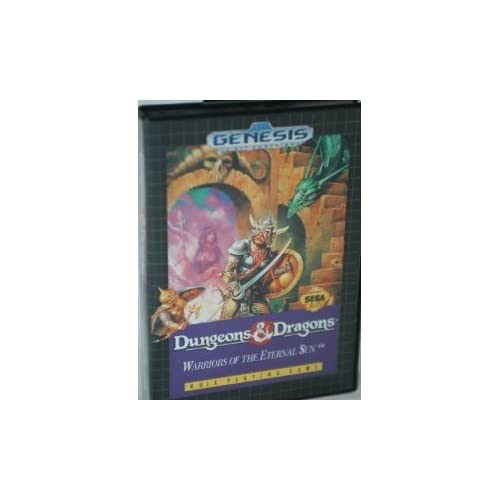 Dungeons & Dragons: Warriors Of The Eternal Sun For Sega Genesis Vintage With Ma