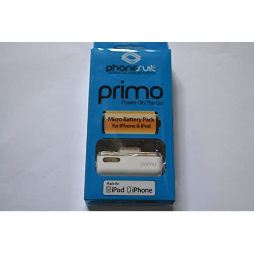 Image 0 of Phonesuit Primo Micro iPod And iPhone Battery Pack White
