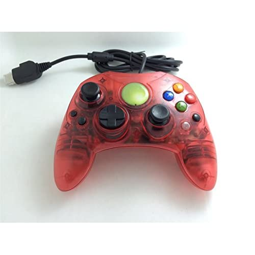 Image 0 of Clear Red Wired Controller For Xbox S-Type Shock Vibration Feedback Motors Game
