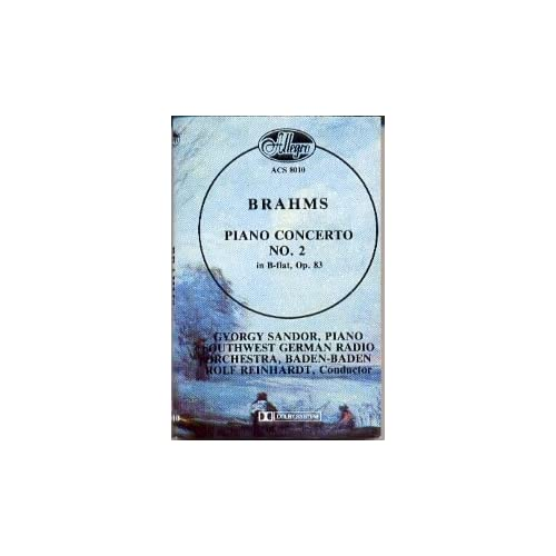 Image 0 of Brahms Piano Concerto No 2 In B-Flat Op 83 By Gyorgy Sandor On Audio Cassette